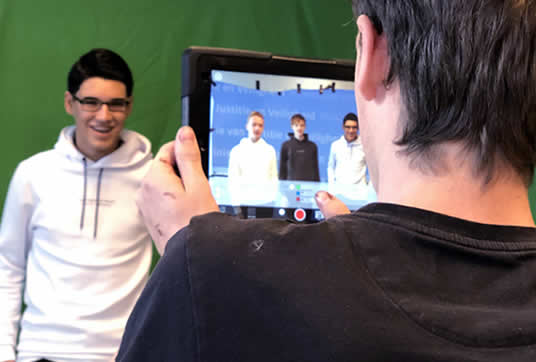 green screen workshop op school